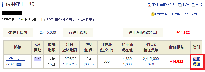 SBI証券クロス取引12