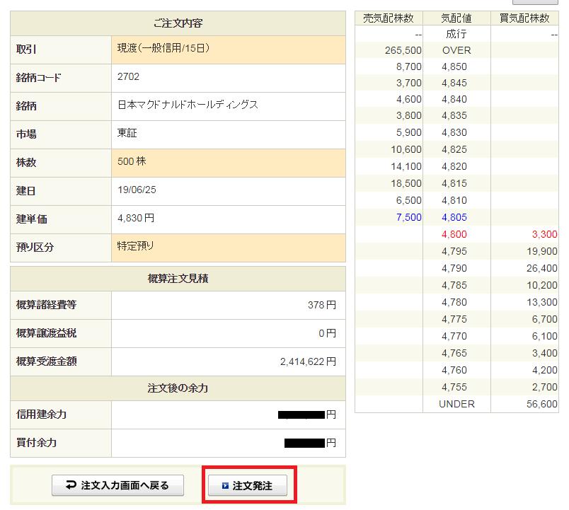 SBI証券クロス取引14